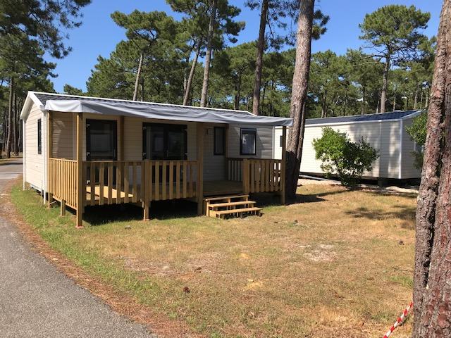 Bahia Trio RIDEAU installé sur emplacement de camping – Locat-Landes