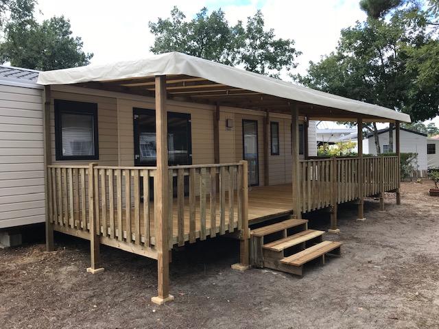Génoa TrioEspace RIDEAU installé sur camping – Locat-Landes