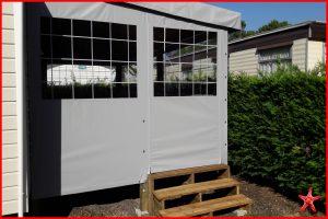 bâche de terrasse avec porte