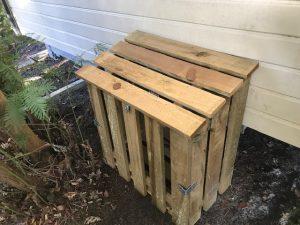 coffre à gaz pour mobil home en bois