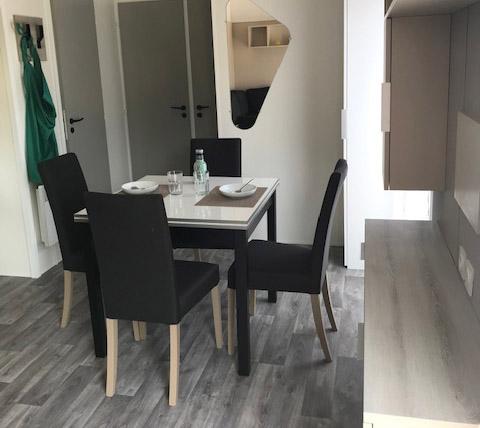 espace séjour Génoa Trio Espace mobil home RIDEAU – Locat-Landes