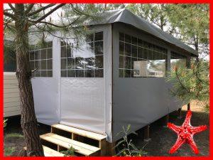 fermeture intégrale grise terrasse bois bisca locat-landes