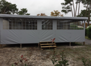 fermeture terrasse 7.5 x 3 grise