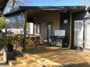 mise en ambiance terrasse mobil home