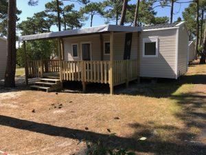 modèle terrasse bois pour mobil home