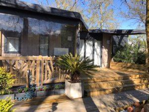 photo terrasse pour mobil home nouvelle génération