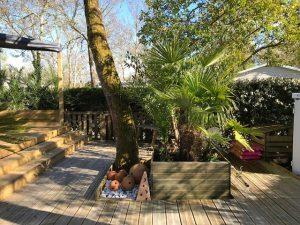 plancher bas en bois de terrasse mobil home