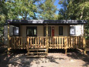 terrasse à bisca en bois de qualité 6 x 3 m couverte