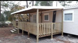 terrasse bois mobil home 7.5 x 3 m