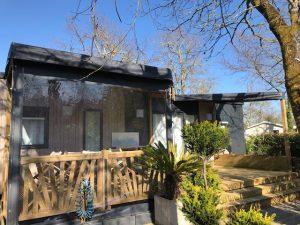 terrasse bois mobl home contemporain