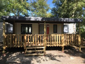 terrasse couverte mobil home Locat-Landes à Biscarrosse